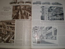 Photo article on state of the British motor car industry 1952  refO50s