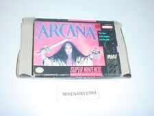 ARCANA game BOX ONLY - Super Nintendo SNES - NO GAME or MANUAL