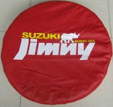 Red Suzuki Jimny Rhino 4x4 Spare Wheel Tire Tyre Cover Bag Pouch Protector 26~27