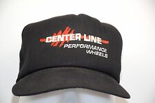 Centerline Performance Wheels Black Mesh Snapback One Size Trucker Hat Rare