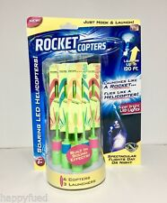 Rocket Copters LED Helicopters / Rockets QTY 6 As Seen On TV 120 FT Sound Effect