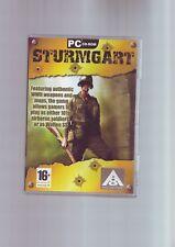 Sturmgart-RARE 2006 SECONDA GUERRA MONDIALE WW2 fps SPARATUTTO GIOCO PER PC-Veloce Post-COMPLETO-in buonissima condizione