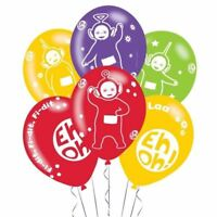 """Teletubbies 11"""" Latex Balloons 6 Pack Childrens Birthday Party Decorations"""