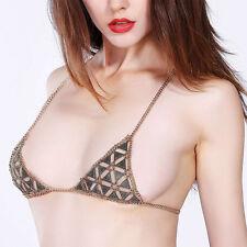 Sandy Beach Chic Women Bikini Top Harness Bra Chest Jewelry Gypsy Body Chain