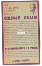 Crime Club, Pall Mall, London - old advertising postcard