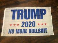 TRUMP 2020 NO MORE BULL FLAG KEEP AMERICA GREAT KAG  MAGA TRUMP 2020