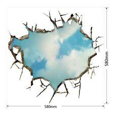 3D Sky Decke Loch-Wand-Kunst-Aufkleber 22 Zoll, Abnehmbare Home Deco