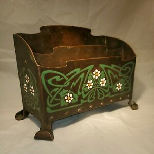 "Otto Heintz ""The Art Crafts Shop, Buffalo N.Y."" Copper and Enamel Letter Holder"