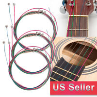 3 Sets/6X Colorful Acoustic Guitar Strings 1st-6th String Steel Strings US SHIP
