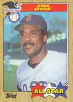 Jim Rice 1987 Topps #610 Boston Red Sox baseball card  Hall of Fame HOF