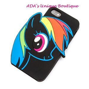 My Little Pony Rainbow Dash iPhone 5/5S Case Hasbro Loungefly Black NWT