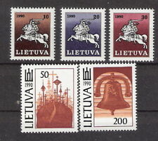 Lithuania 1991 White Knight and Churches Set MNH (SC# 379-384)