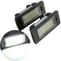 Paire LED  Eclairage Plaque d'immatriculation Sans erreur pour BMW E39 E91