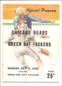 10/7/56 Chicago Bears vs. Green Bay Packers program