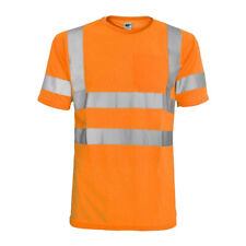 L&M Hi Vis T Shirt ANSI Class 3 Reflective Tape Safety Long Short Sleeve