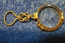 """15K Or Rare Dépliable Régence 1830's Lorgnette Avec """" Square-Knot """" Poignée"""