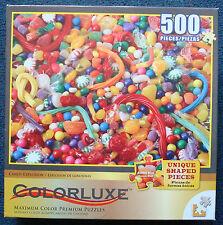 jigsaw puzzle 500 pc Colorluxe Unique shapes Candy Explosion maximum color