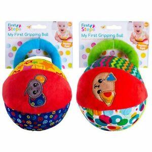 Baby Soft Fabric Ball Rattle   Newborn Sensory Crib Toy   0-36 Months Infant UK