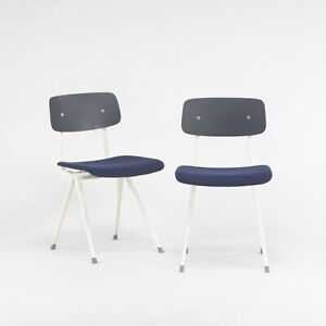 Pair of Upholstered HAY Result Chairs by Friso Kramer and Wim Rietveld in Oak
