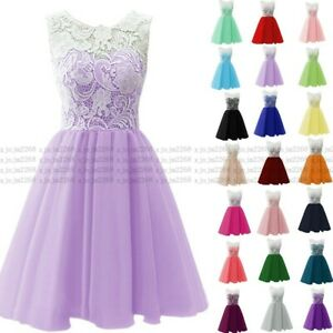Short Chiffon Prom Dress Bridesmaid Formal Evening Party Ball Gown Stock 6-24