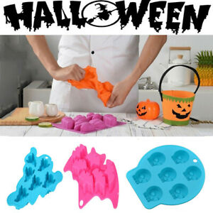 Halloween Silicone Cake Soap Mold Ice Cube Chocolate Cookie Baking Mould Maker