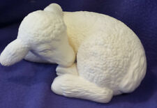 """Sleeping Lamb (Sheep)  10"""" Ceramic Bisque, Ready To Paint"""