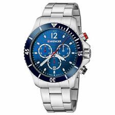 Wenger Men's Watch Seaforce Chronograph Dive Blue Dial SS Bracelet 01.0643.111