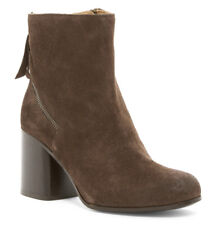 NEW Alberto Fermani Cassia Seal Suede Leather Ankle Boot Heel/Side Zip 39.5/9.5