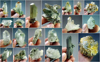 Natural Stunning Lot of Chlorite Quartz Crystals Specimens Pakistan 21Pcs 1.9kg