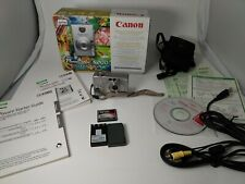 Canon Elph PowerShot S200 Digital Camera Original Box & Accessories