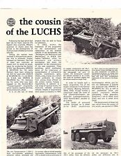 magazine article  history of daimler benz transportpanzer 1 with 10 pictures