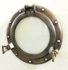 "11.5"" Antique Canal Boat Porthole-Window Ship Round Glass Wall Decor Porthole"