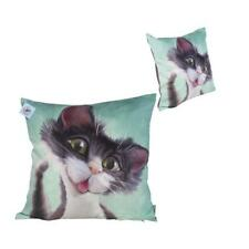 Pets With Personality 5807 Black and White Cat Cushion