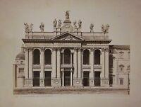 fine '800 ROMA Basilica di San Giovanni in Laterano foto albumina 19 x 25 cm