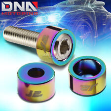 J2 FOR DB DC2 DC5 CL AP1 AP2 NEO CHROME ALUMINUM HEADER MANIFOLD CUP WASHER+BOLT
