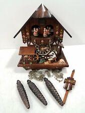 Der Froliche Wanderer Edelweiss Cuckoo Clock Regula Movement