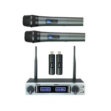 VOKAL VLR502    2 WIRELESS MIC WITH RECHARGEABLE BATTERY