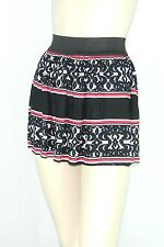 Poly Span Elastic Waist A-line Skater Mini Skirt Juniors MEDIUM S2012_6