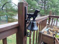 Cast Iron Metal Spaniel Dog Hanging Dinner Bell