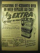 1950 Johnson's Glo-Coat Wax Ad - Sensational get-acquainted offer