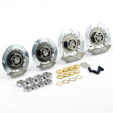 New 1:10 On-Road Racing RC Model Car Aluminum Alloy Wheel Rim Brake Disc Silver