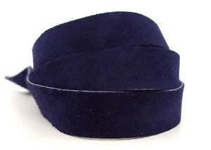 Strips of Suede Leather Navy 48 Inches Length 4-4.5 oz. Choose Width