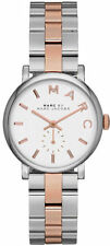 NEW MARC JACOBS MBM3331 LADIES TWO TONE BAKER MINI WATCH - 2 YEAR WARRANTY