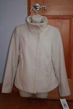 Kensie Beige / Ivory / Vanilla Funnel Neck Coat Jacket M NWT