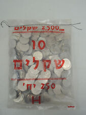 1984 10 Sheqalim Jewish Personalities HERZL/HERZ'L Original Sealed Bag 250 coins
