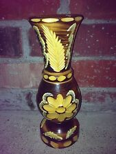 Handmade wood vase (size 9 inches) from Europe