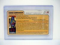 GI JOE COBRA COMMANDER FILE CARD Vintage Figure UNCUT / AWESOME SHAPE 1984