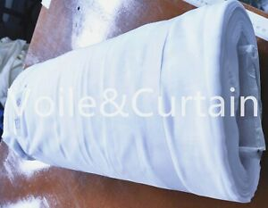 Snow white voile fabric 210CM wide super quality wedding drapes 52meter per roll