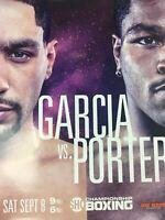 Boxing - 2018 Poster Garcia vs. Porter