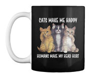 Stylish Cats Make Me Happy Gift Coffee Mug Gift Coffee Mug